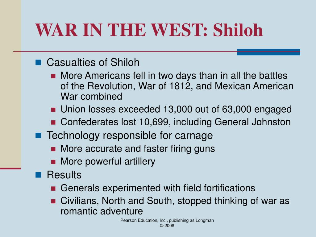 WAR IN THE WEST: Shiloh