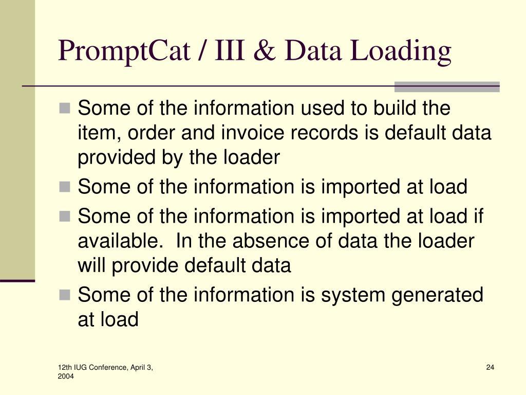 PromptCat / III & Data Loading