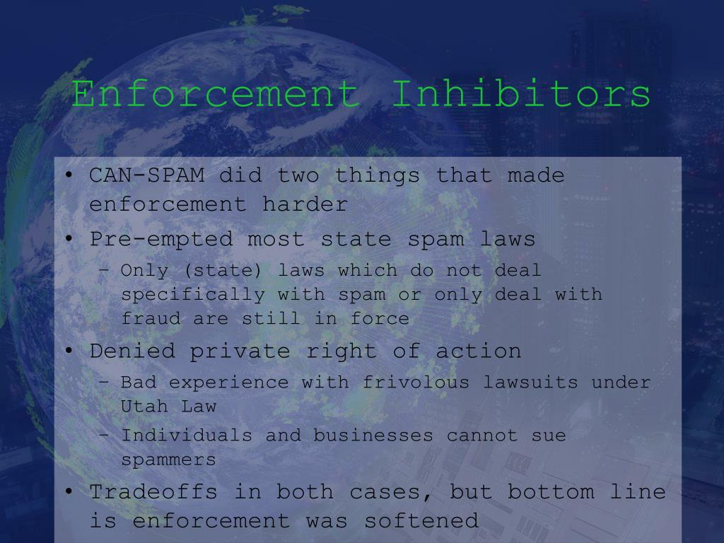 Enforcement Inhibitors