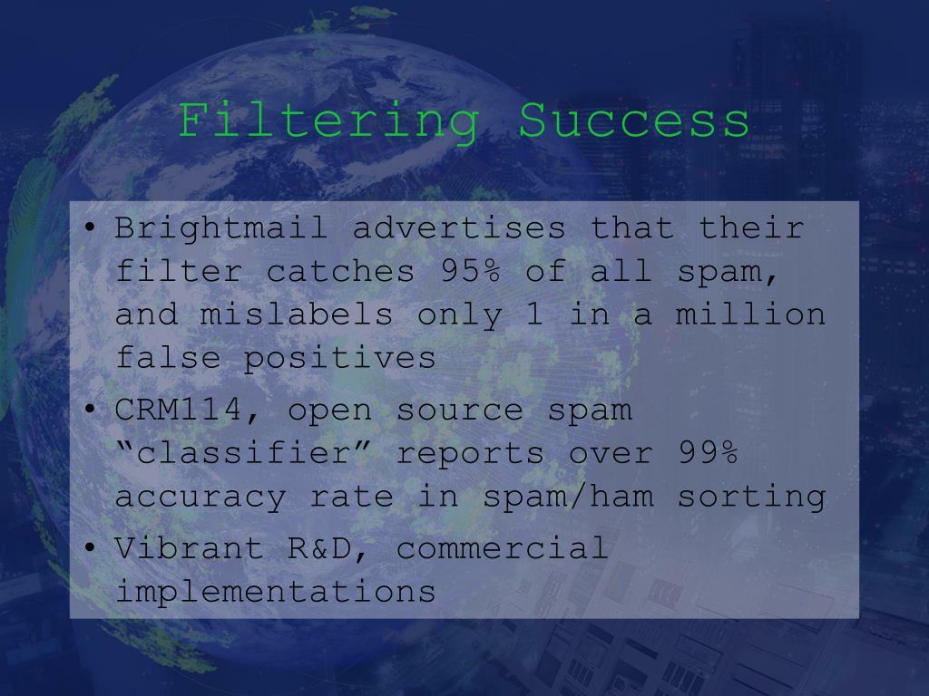 Filtering Success