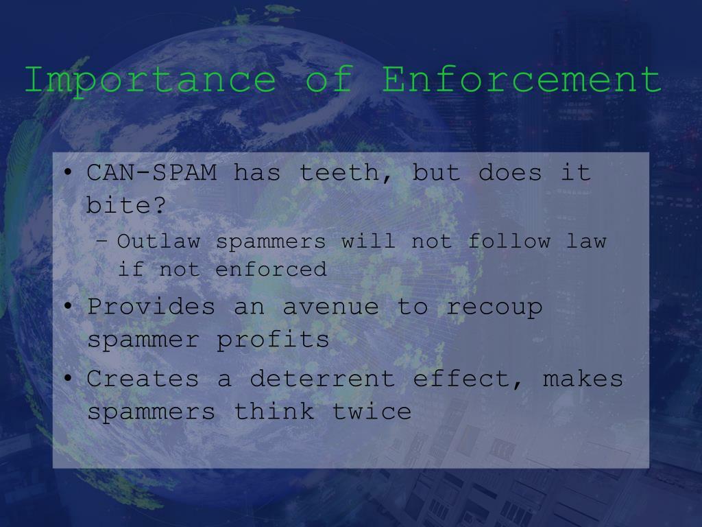 Importance of Enforcement