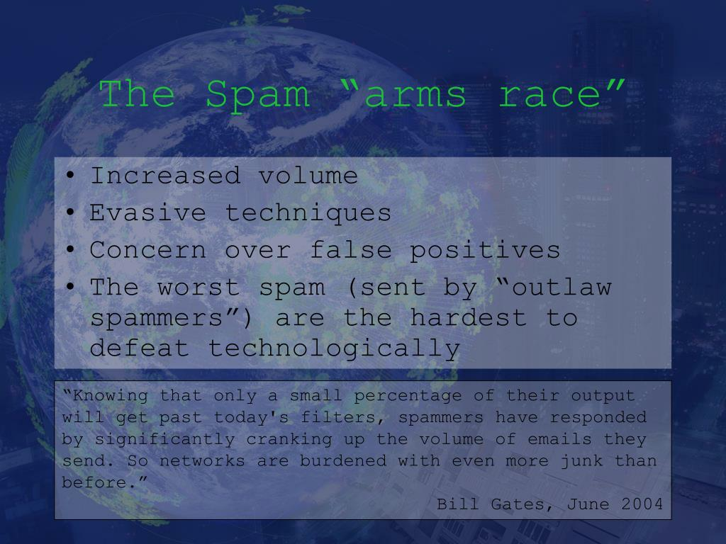 "The Spam ""arms race"""