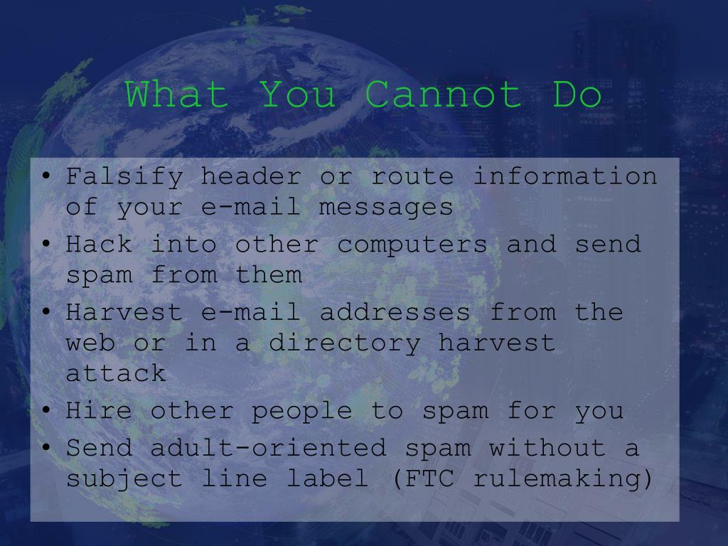 What You Cannot Do