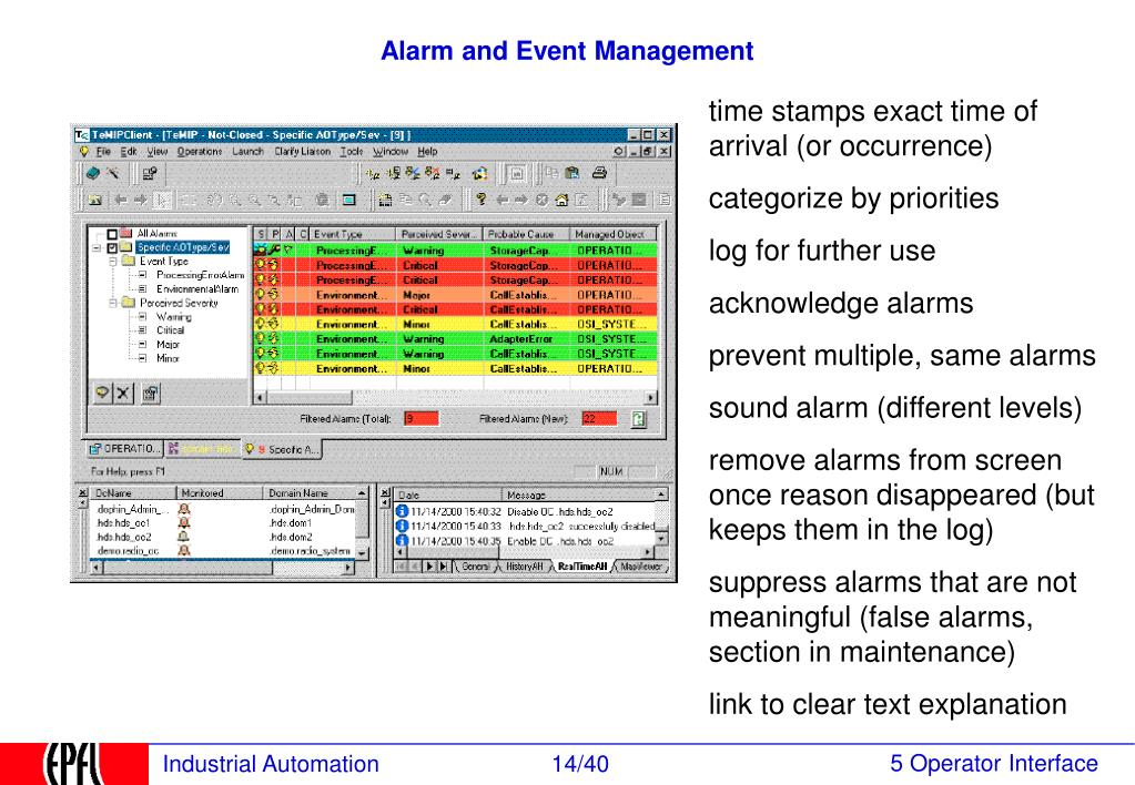 Alarm and Event Management