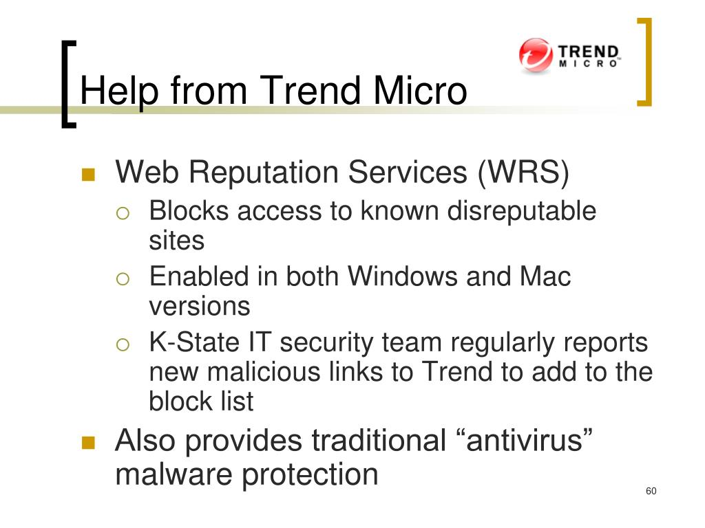 Help from Trend Micro