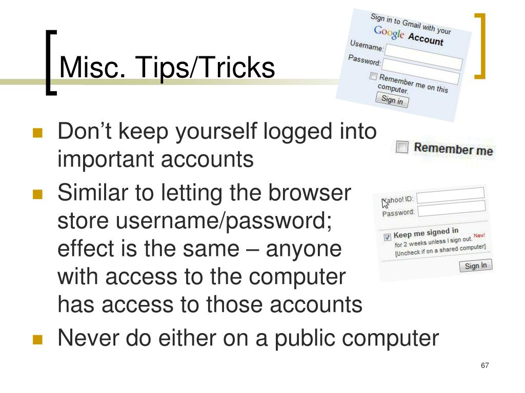 Misc. Tips/Tricks