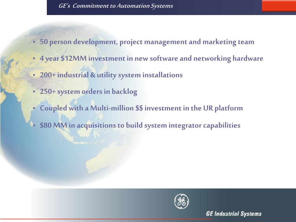 GE's  Commitment to Automation Systems