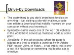 drive by downloads