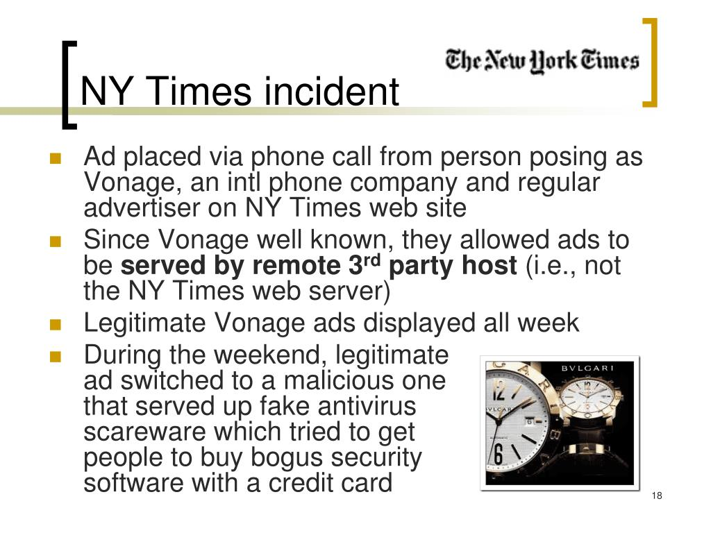 NY Times incident