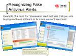 recognizing fake antivirus alerts41
