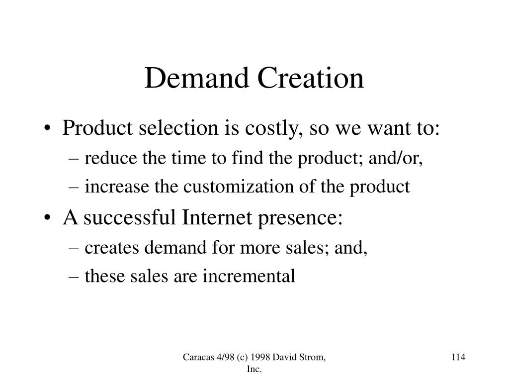 Demand Creation