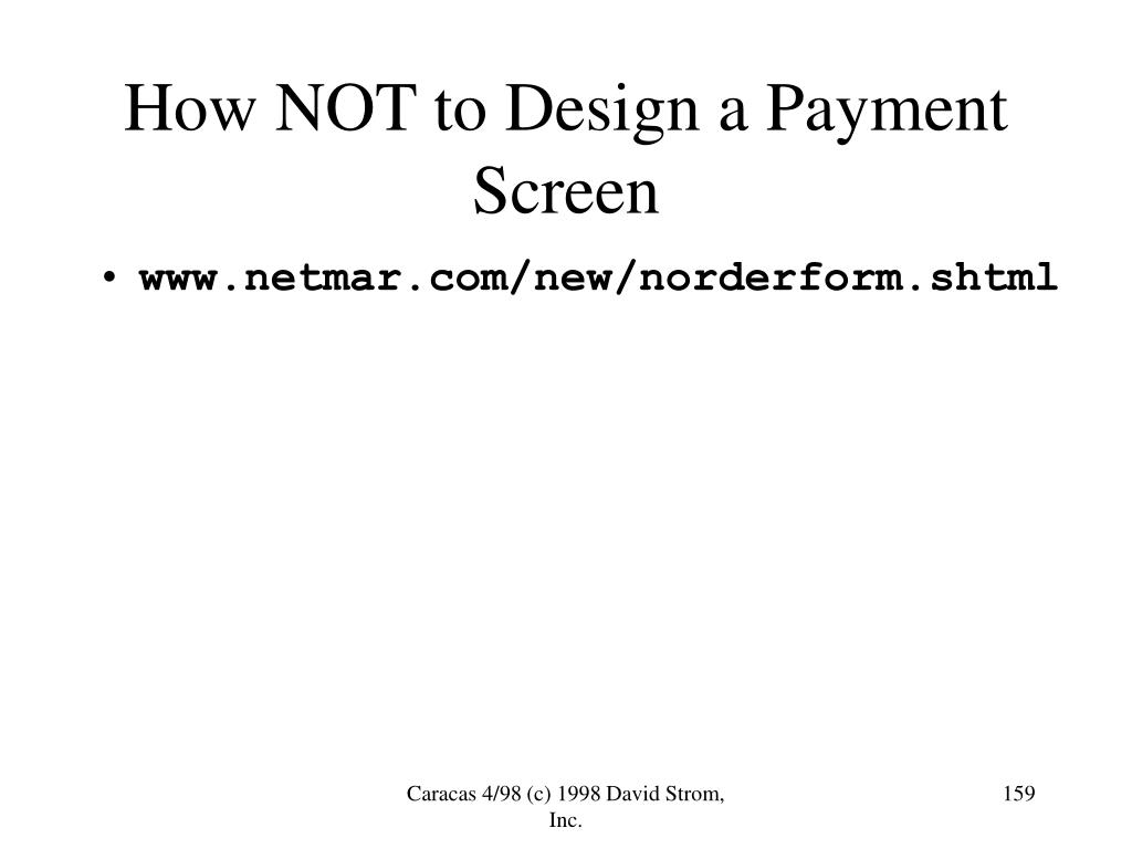 How NOT to Design a Payment Screen