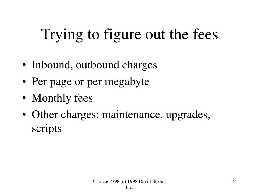 Trying to figure out the fees