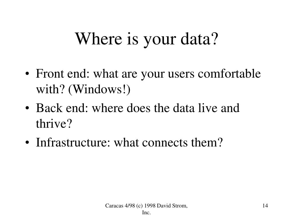 Where is your data?