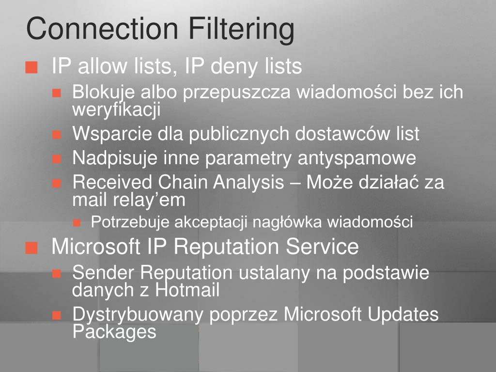 Connection Filtering