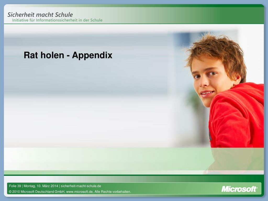 Rat holen - Appendix