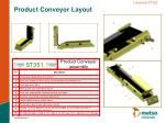 product conveyor layout