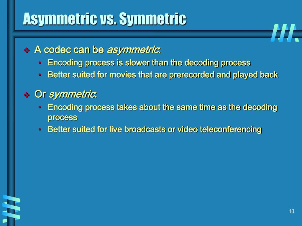 Asymmetric vs. Symmetric