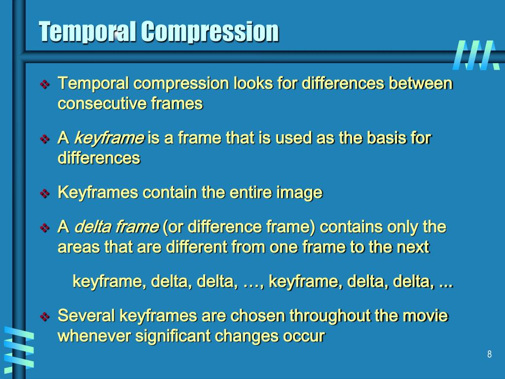 Temporal Compression