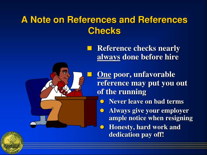 A Note on References and References Checks