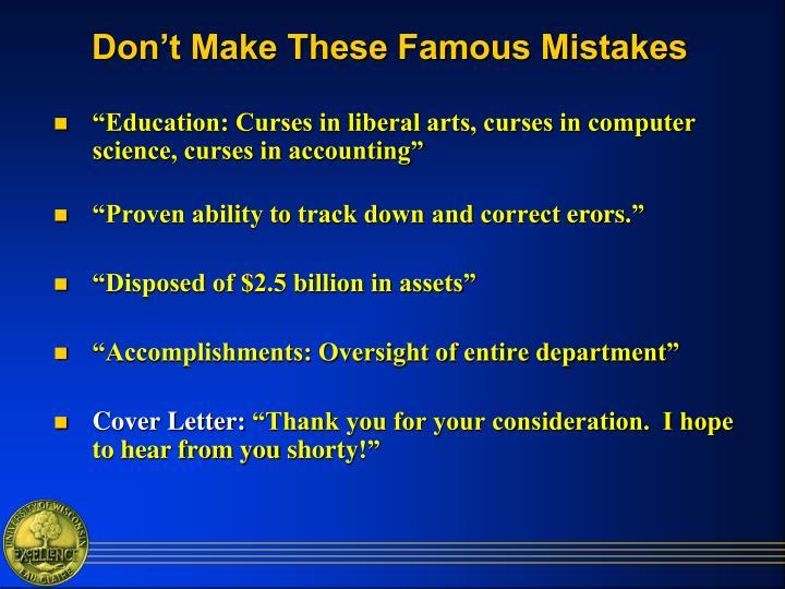 Don't Make These Famous Mistakes