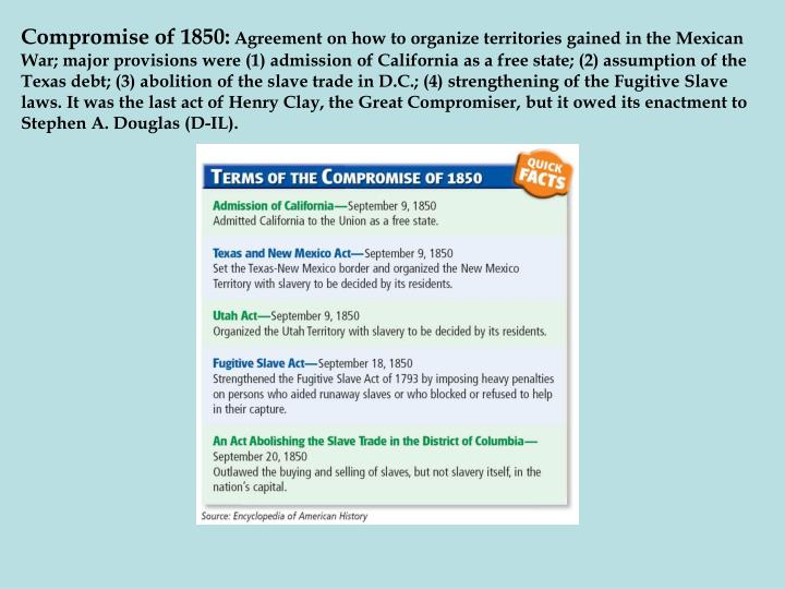 Compromise of 1850: