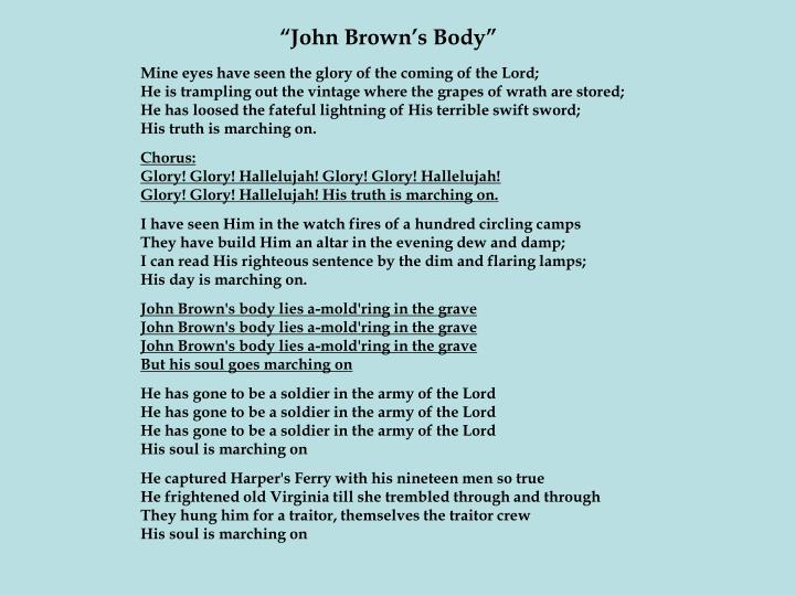 """John Brown's Body"""