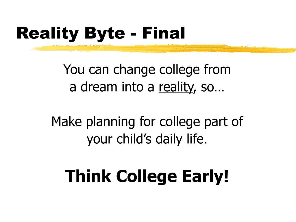 Reality Byte - Final