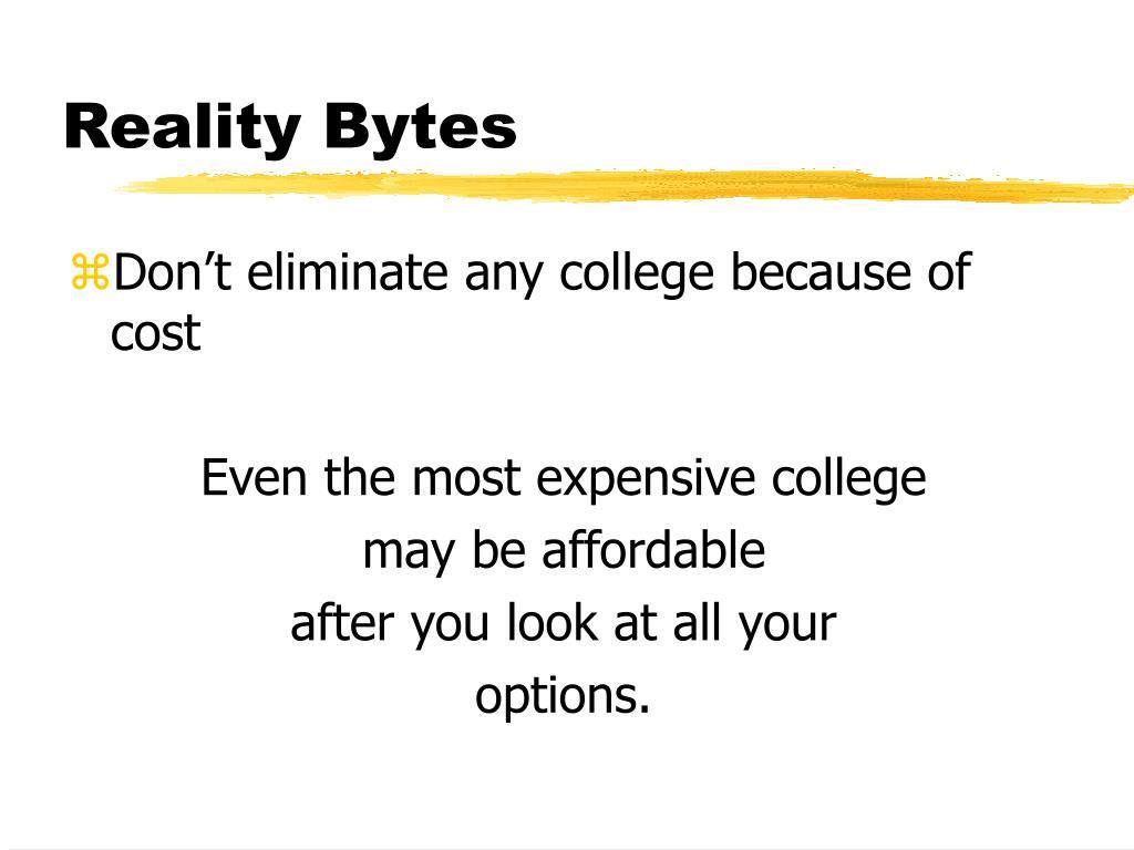 Reality Bytes