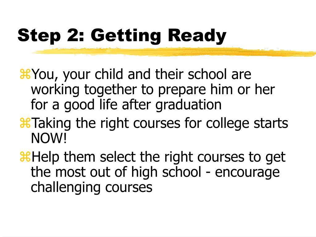Step 2: Getting Ready