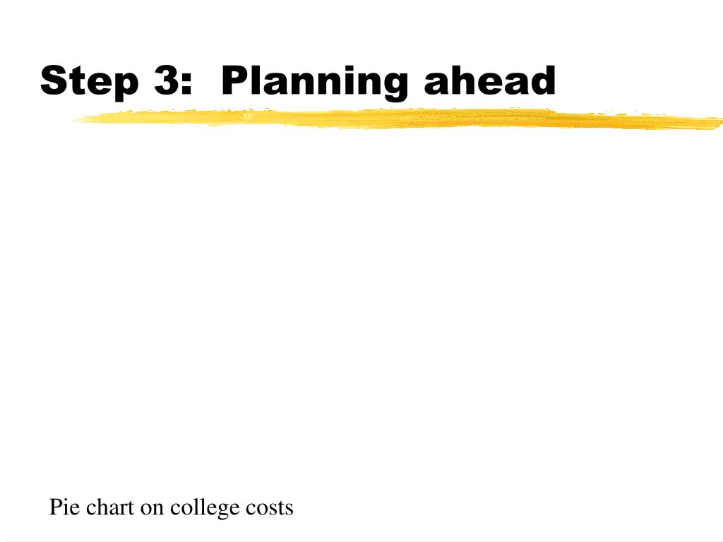 Step 3:  Planning ahead