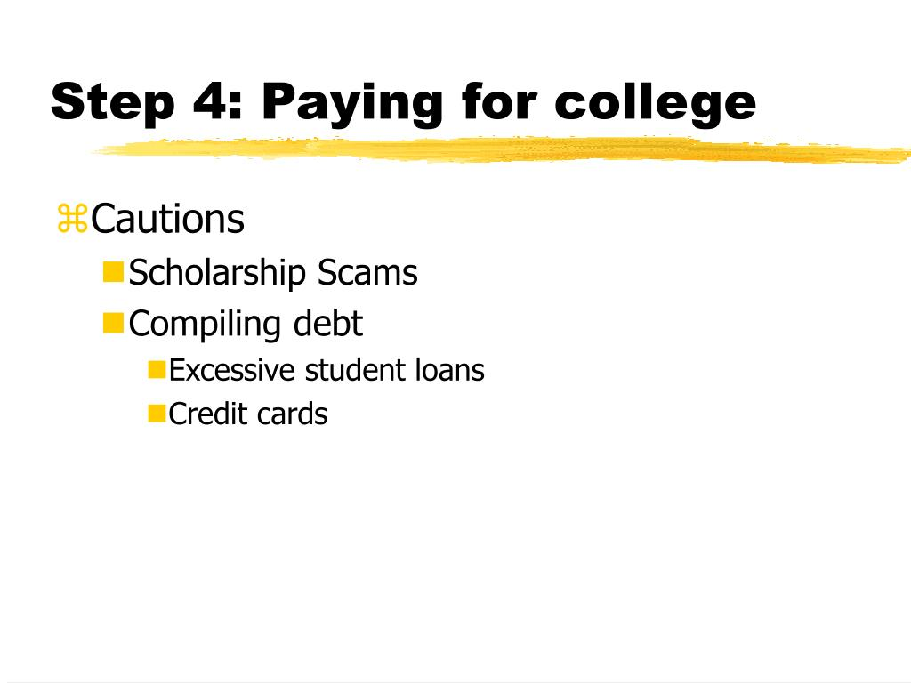 Step 4: Paying for college