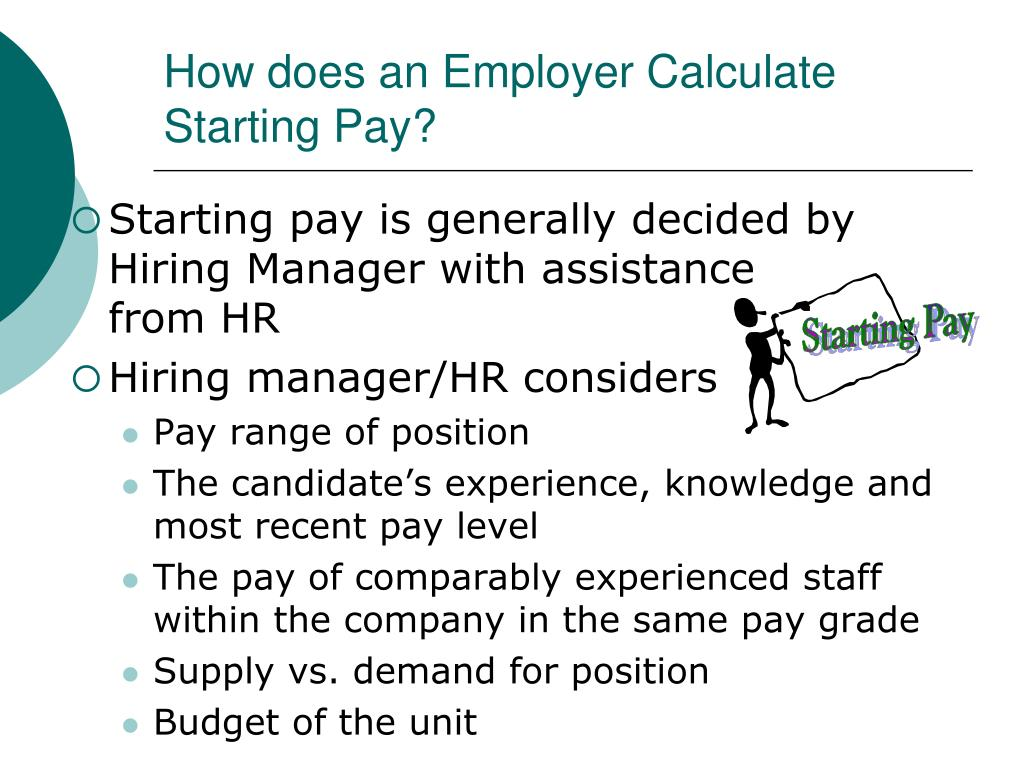 How does an Employer Calculate Starting Pay?