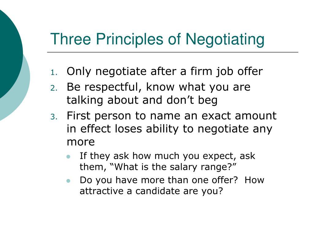 Three Principles of Negotiating