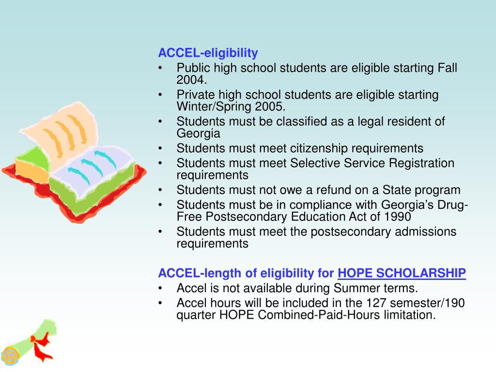ACCEL-eligibility