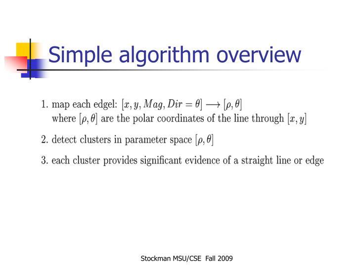 Simple algorithm overview