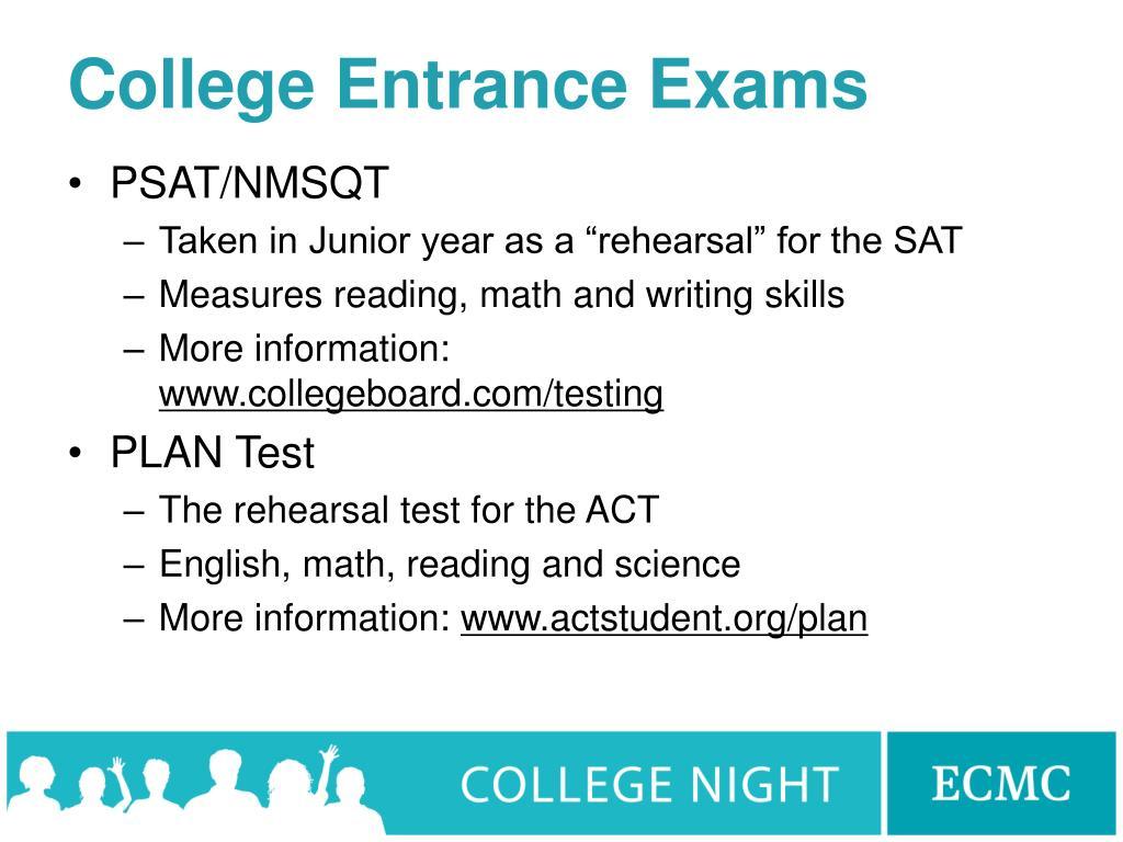 College Entrance Exams
