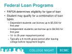 federal loan programs65
