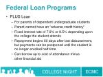 federal loan programs66