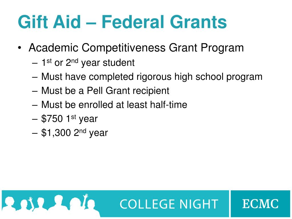 Gift Aid – Federal Grants