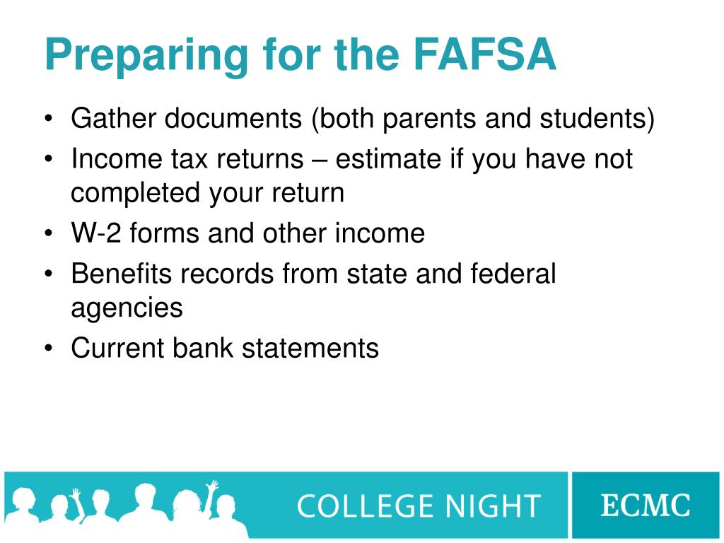 Preparing for the FAFSA