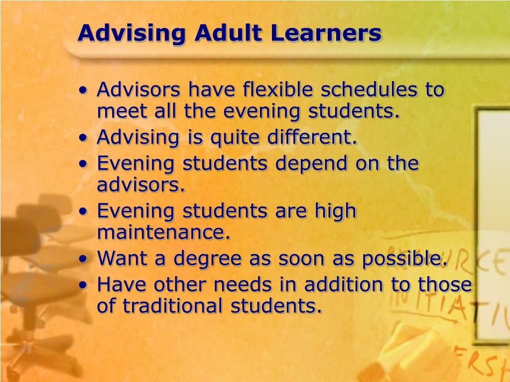 Advising Adult Learners