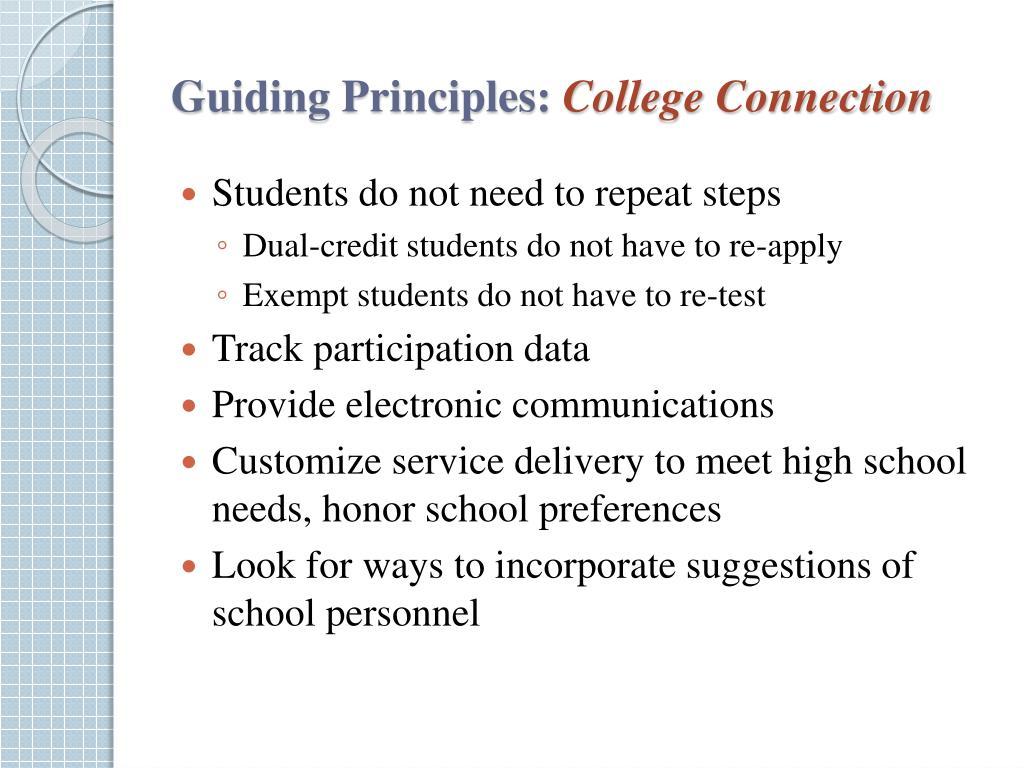 Guiding Principles: