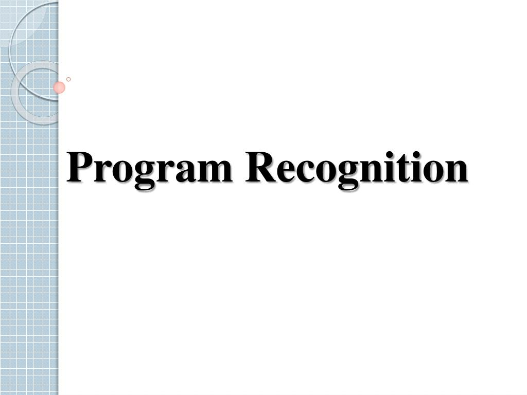 Program Recognition