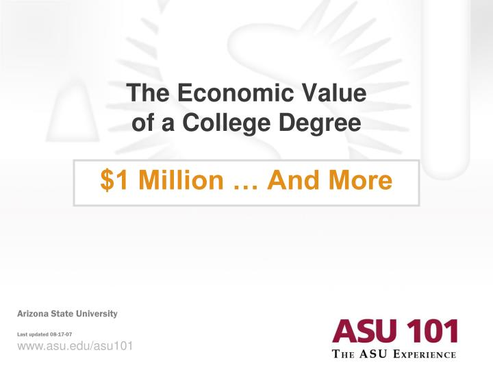 The economic value of a college degree