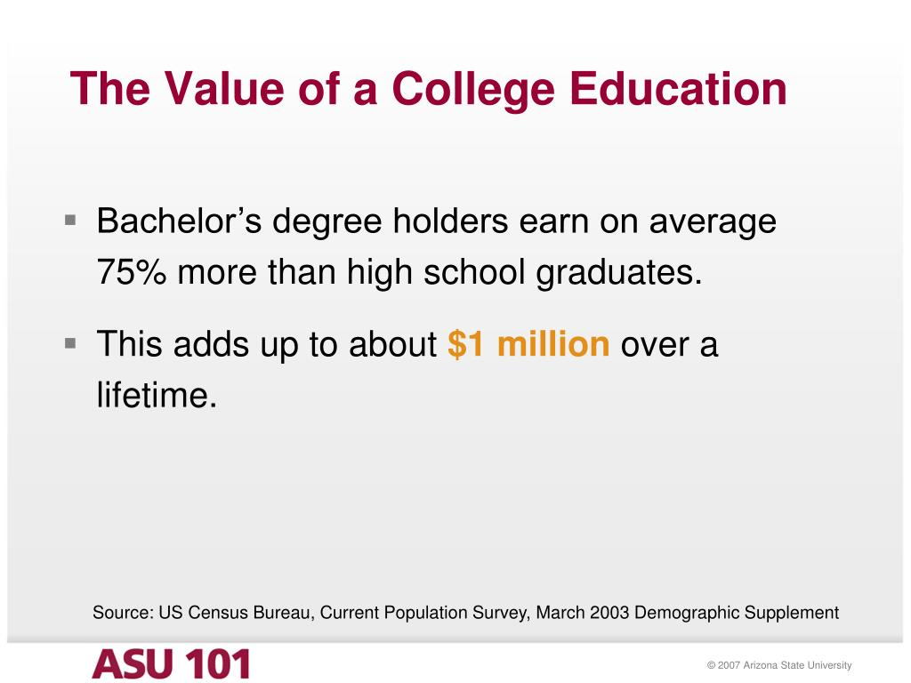 The Value of a College Education