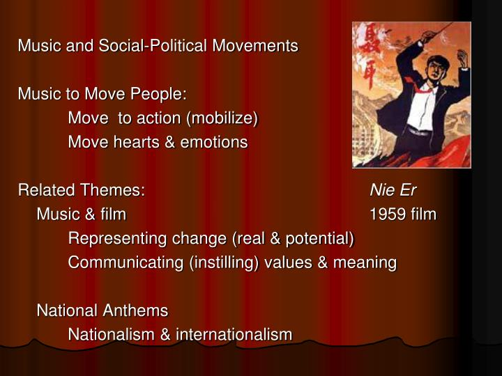 Music and Social-Political Movements