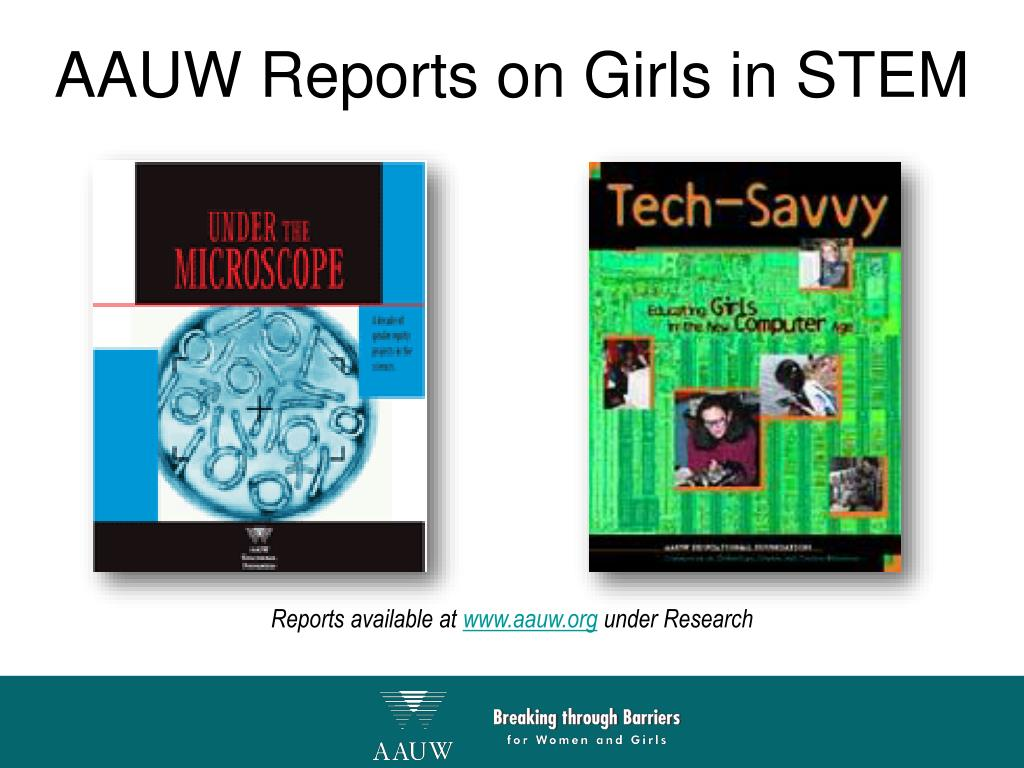 AAUW Reports on Girls in STEM