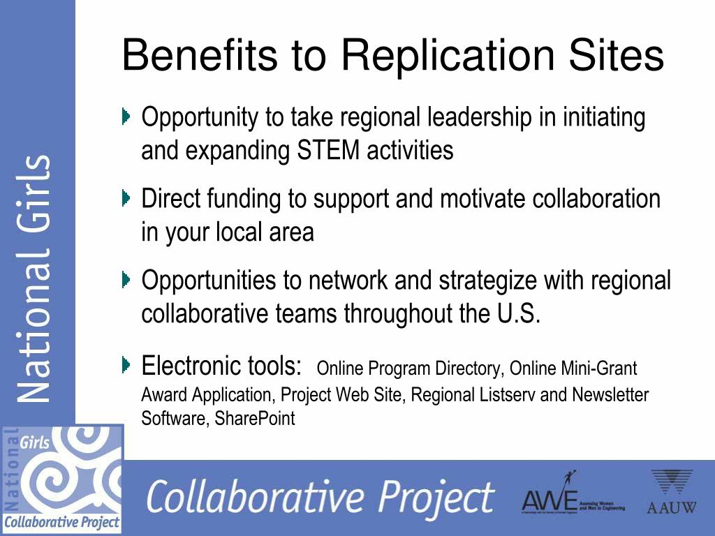 Benefits to Replication Sites