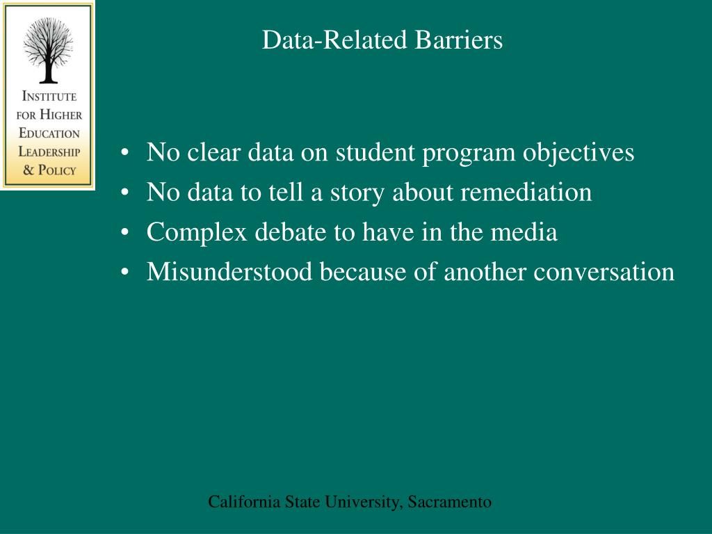 Data-Related Barriers